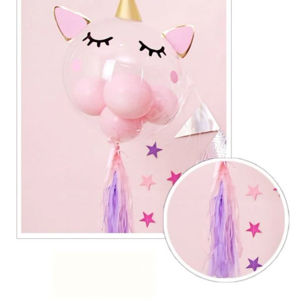 Unicorn Balloon Set up - 2 - Kids party decorators dubai