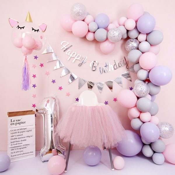 Unicorn Balloon Set up - 2 - Dubai's best kids party decorator