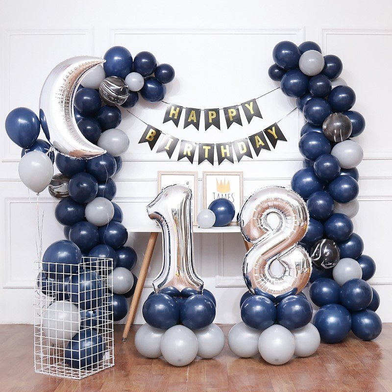 Blue Moon Balloon Set - Adult Party Decor and Supplies in UAE