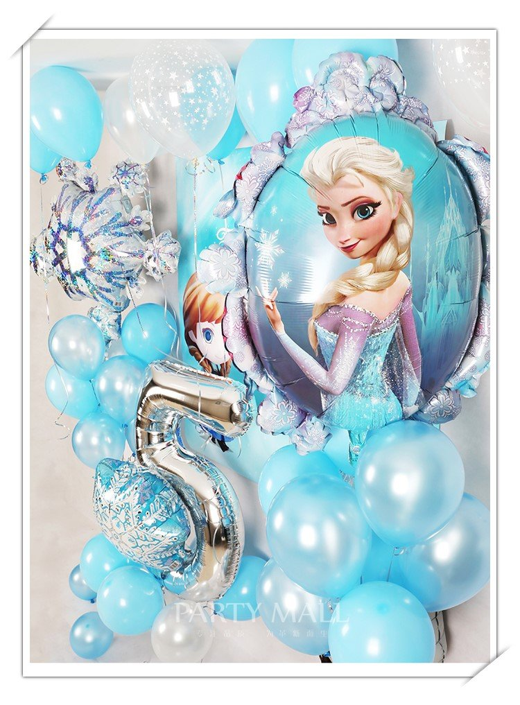 Frozen balloon set up kids party decorator in dubai
