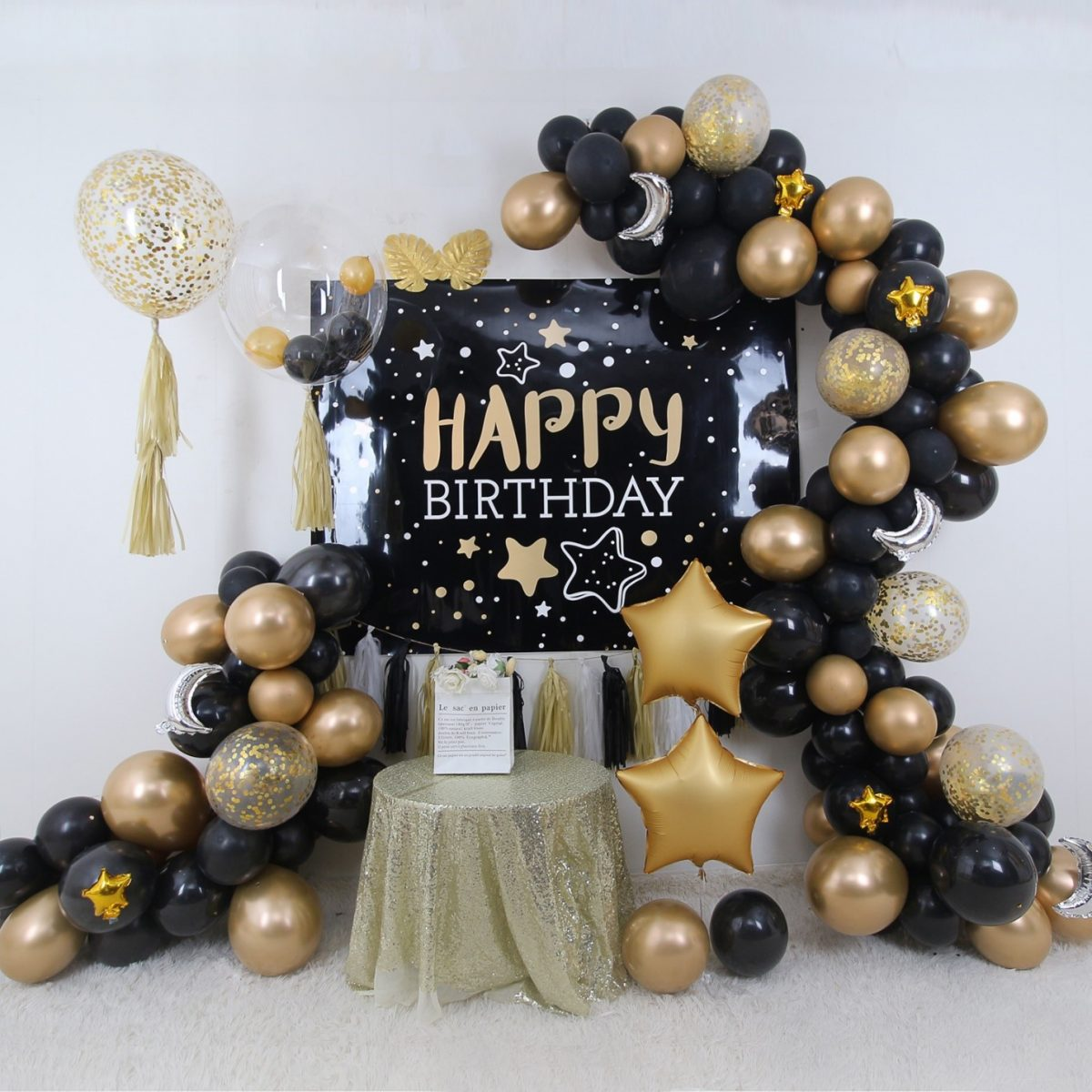 Package Details - Black Gold Theme Party Set up - 1 - Party supplies and decorators in Town