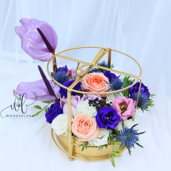 The Bird Cage surprise flower gift in dubai