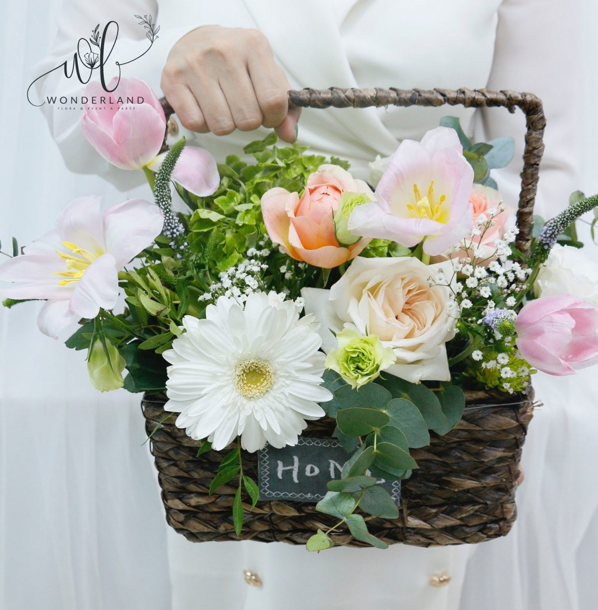 The Home Bucket Order Online at Best Flower Shop in UAE